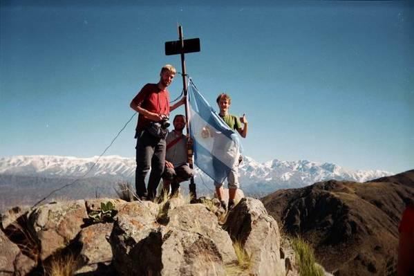 Volker, David und ich aufm Cerro Dedo (2043m)